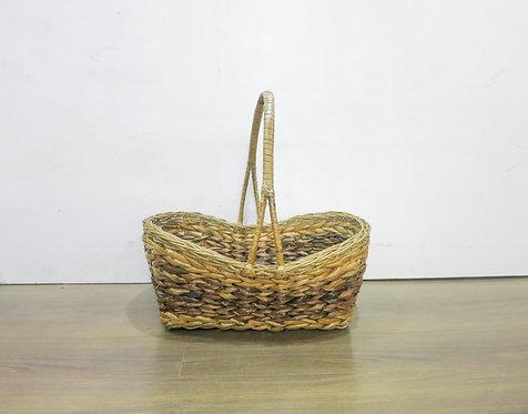 Dark Brown Basket w/ Split Handle