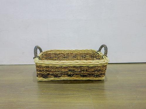 Abaca Basket with Ear Handle