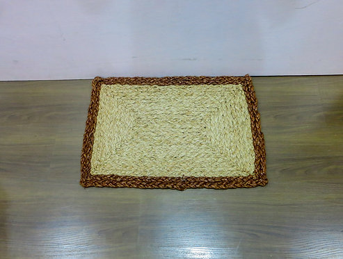 Rectangle Rug w/ Brown Border