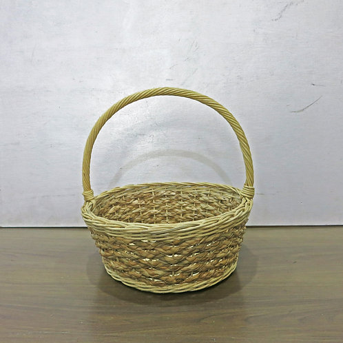 Braided Basket w/ White Rim