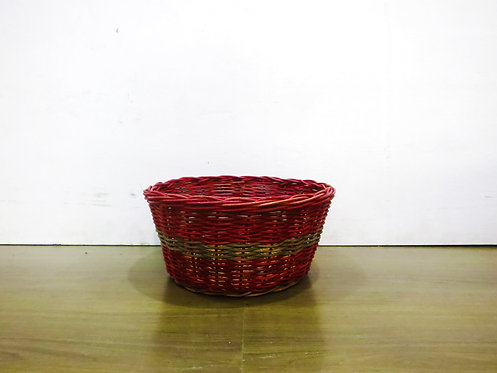 Red Round Basket