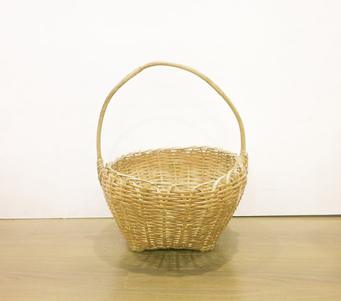 Round Top Square Basket w/ Handle
