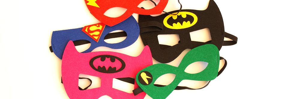 Superhero felt mask (pack of 5)