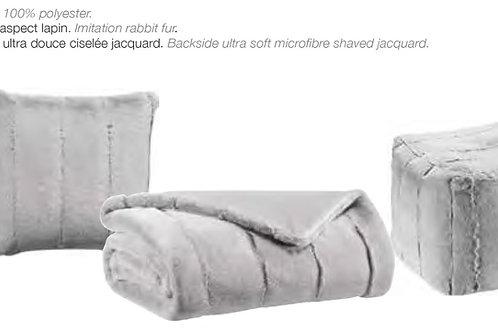 Plaid ASHA 140x180 imitation lapin ultra doux