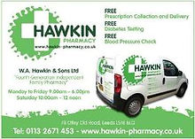 Hawkin Pharmacy in Leeds sponsors Tutts Clump Cranberry Cider at North Leeds Charity Beer Festival