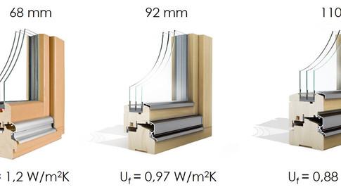 Kaj vpliva na toplotno izolativnost lesenega okenskega profila?