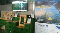 ReWin window as a part of MOVECO project mobile exhibition is in Ljubljana