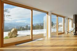 Wooden sliding door