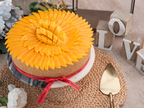 Mango Layered Cheesecake with a Cookie Base 1 kg