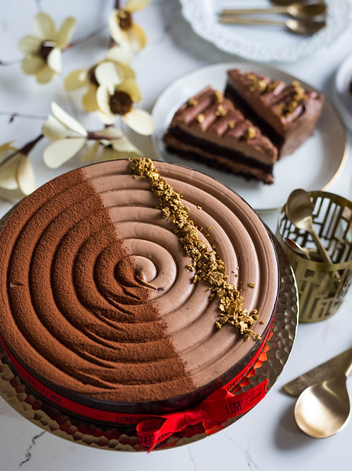 Nutella Layered Cheesecake