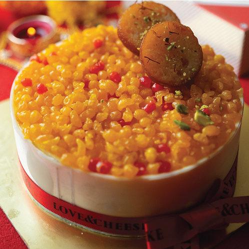 Boondi & Gulab Jamun Cheesecake
