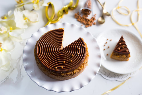 Salted Caramel Baked Cheesecake