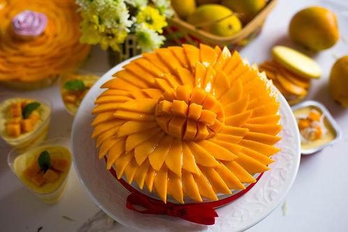 Fresh Mango Layered Cheesecake