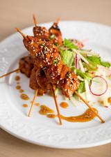 7. Honey Sriracha Grilled Chicken Skewer