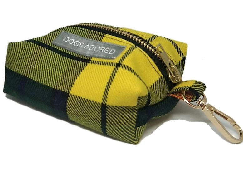 Eco Tartan Poop Bag Holder