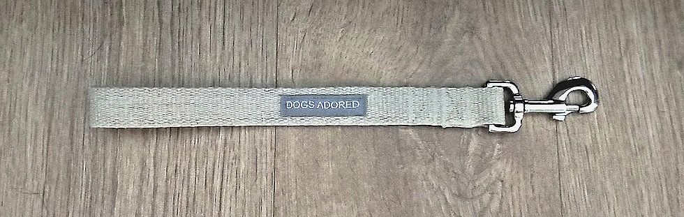 "Short 13"" Organic Hemp Dog Lead"