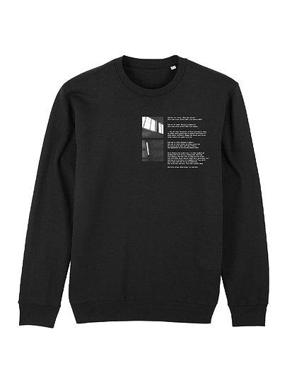 """Sweatshirt """"Was Wenn Nicht"""" Black"""