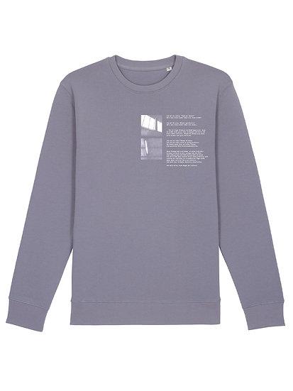 """Sweatshirt """"Was Wenn Nicht"""" Lava Grey"""