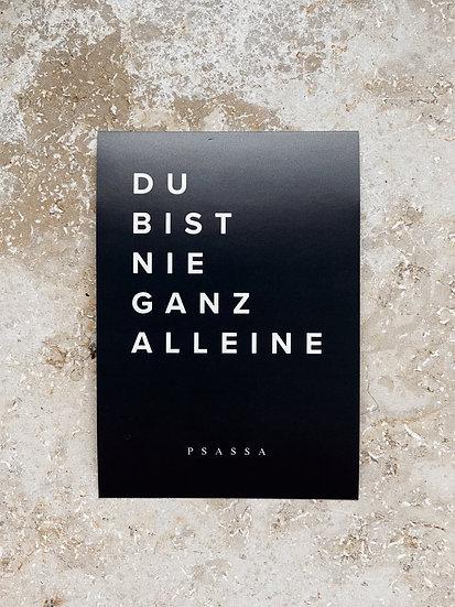 """10x Aufkleber """"Nie alleine"""""""