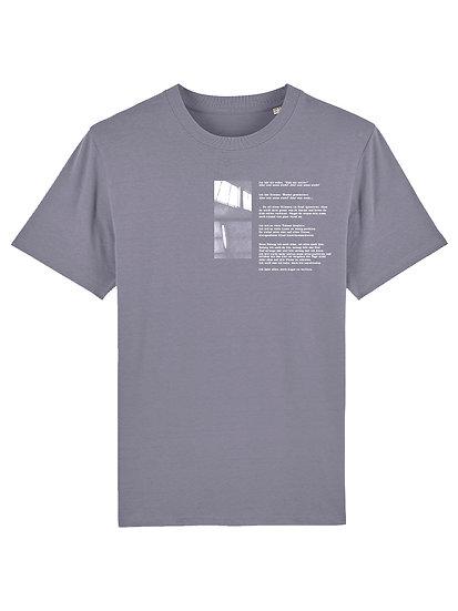"""T-Shirt """"Was wenn nicht"""" Lava Grey"""