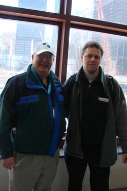 mit Ed am Ground Zero