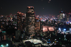 Blick aufs nächtliche Tokio