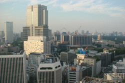 Blick aufs Kyobashi Viertel