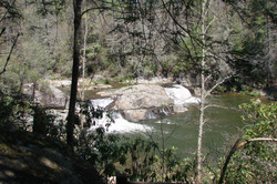 Teil der Linville Falls