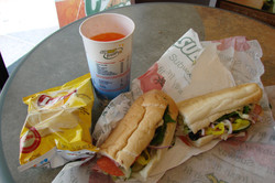 Mittagessen bei Subway