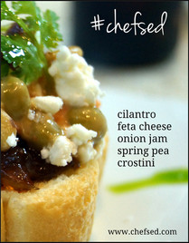 Spring Pea Crostini
