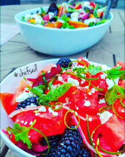 Berry Salad with Mint & Feta