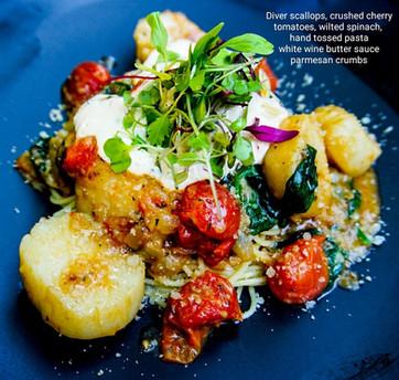Scallops, Tomatoes & Pasta