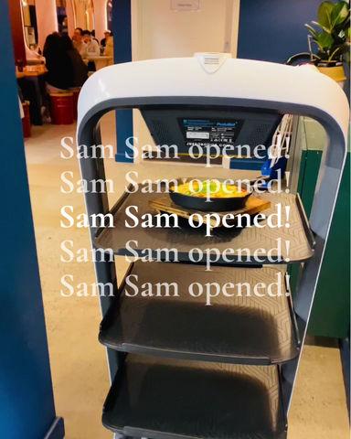 Robot waiters are working at Samsam chicken Clayton Australia