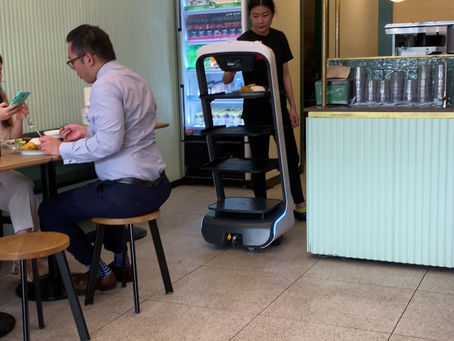 Robot waiter at Ayam Penyet Ria in South Melbourne!