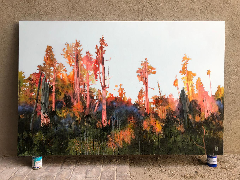 Otra luz. Acrílico sobre tela, 230 x 150 cm. 2021