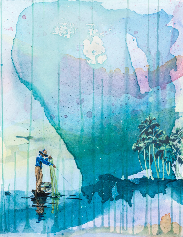 Acrílico y óleo sobre tela. 90 x 70 cm. 2015