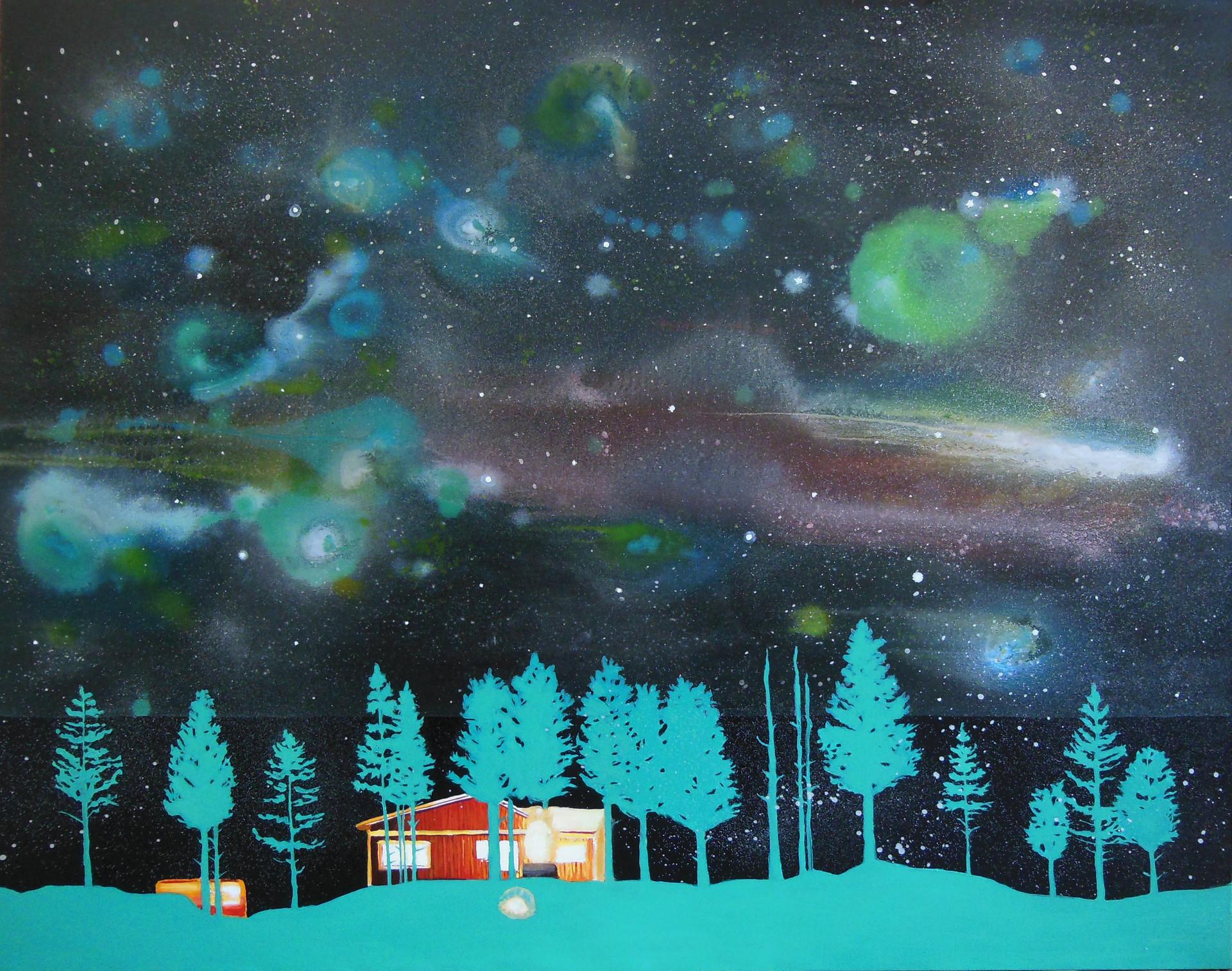 Acrílico, óleo y spray sobre tela. 120 x 150 cm. 2015