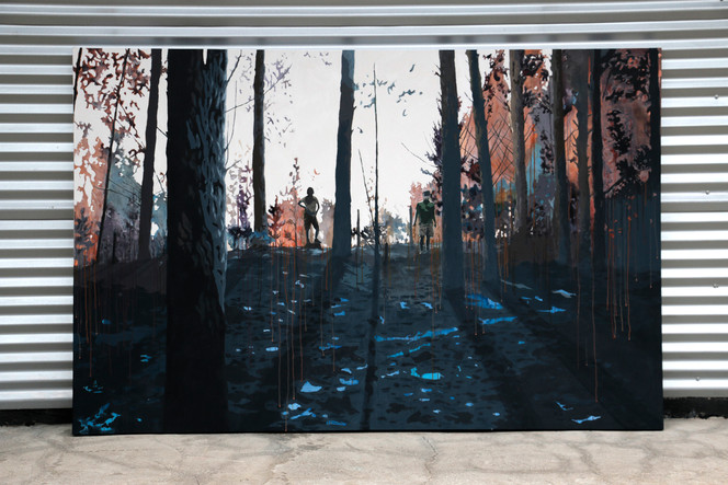 El bosque I. Acrílico sobre tela, 230 x 150 cm. 2019