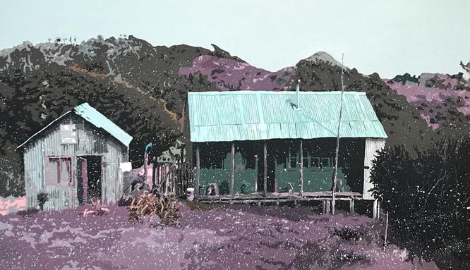 Campo chileno. Acrílico sobre tela, 170 x 100 cm. 2018