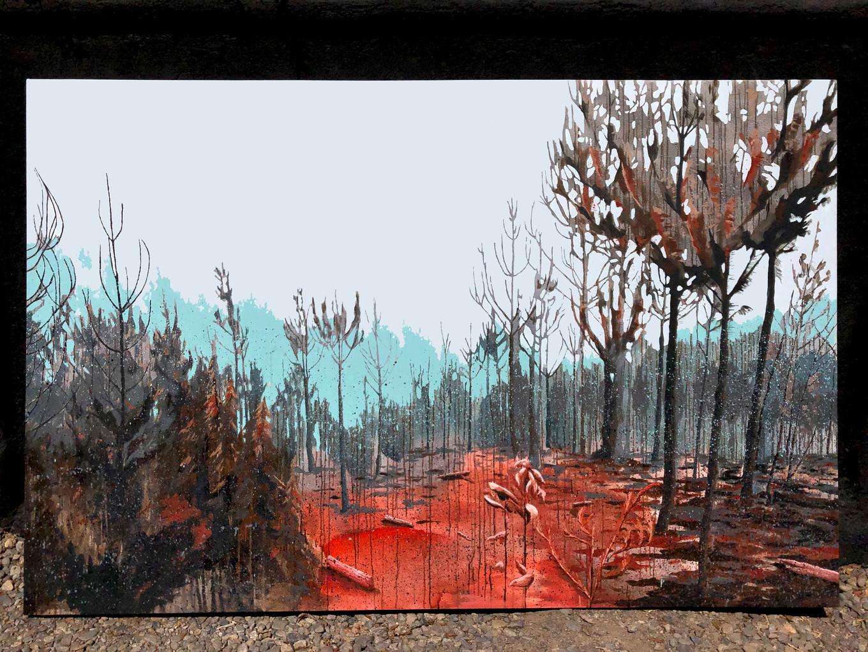 Tierra. Acrílico sobre tela, 230 x 150 cm. 2020