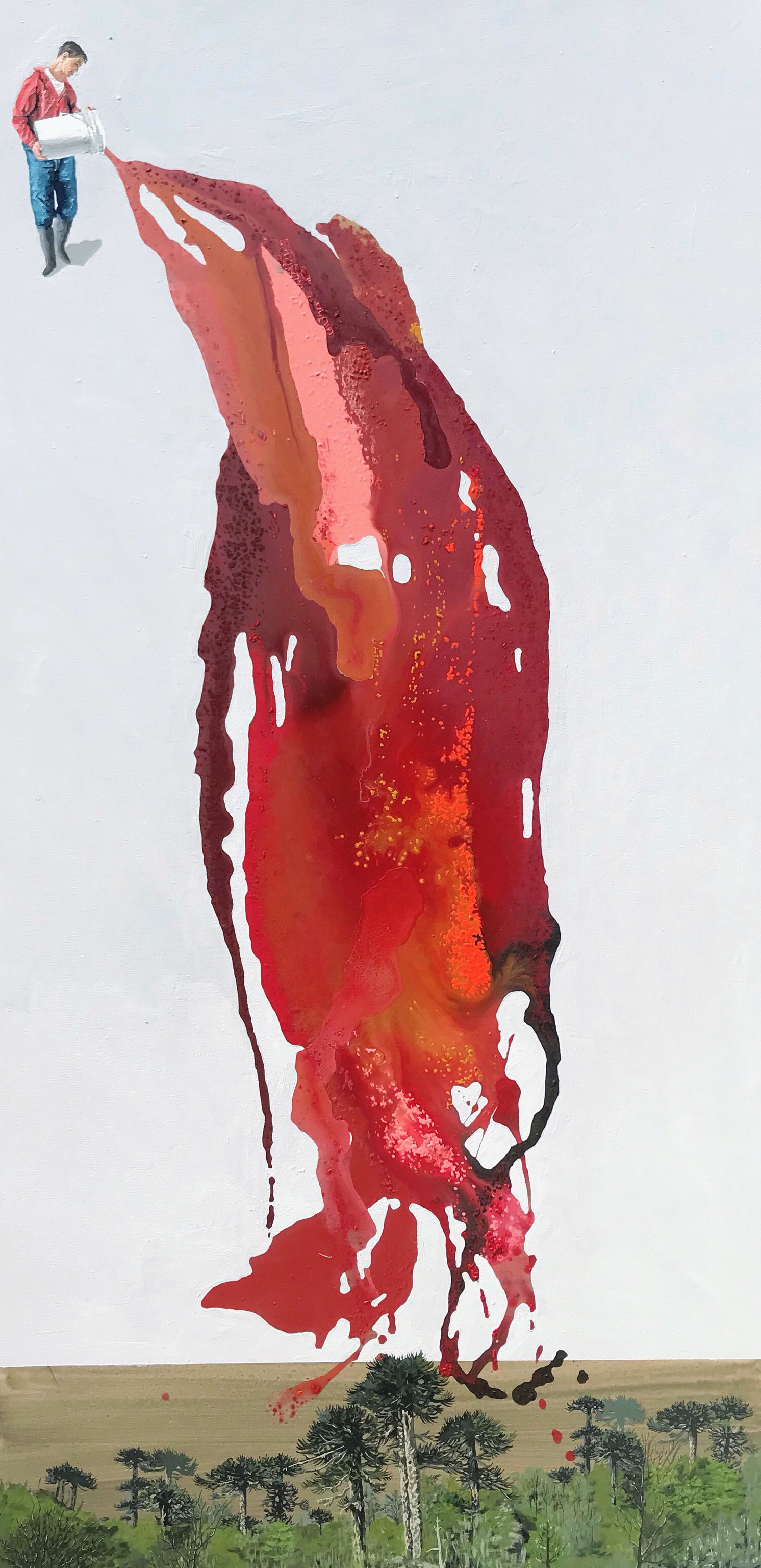 Acrílico sobre tela, 200 x 100 cm. 2019