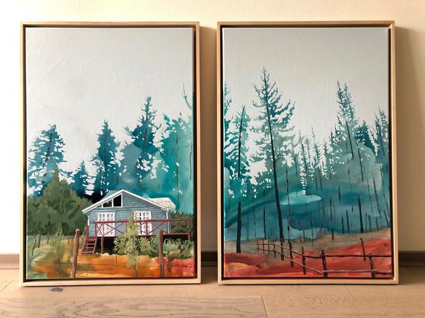 Habitar. Acrílico sobre tela, 60 x 90 cm. c/u, 2019