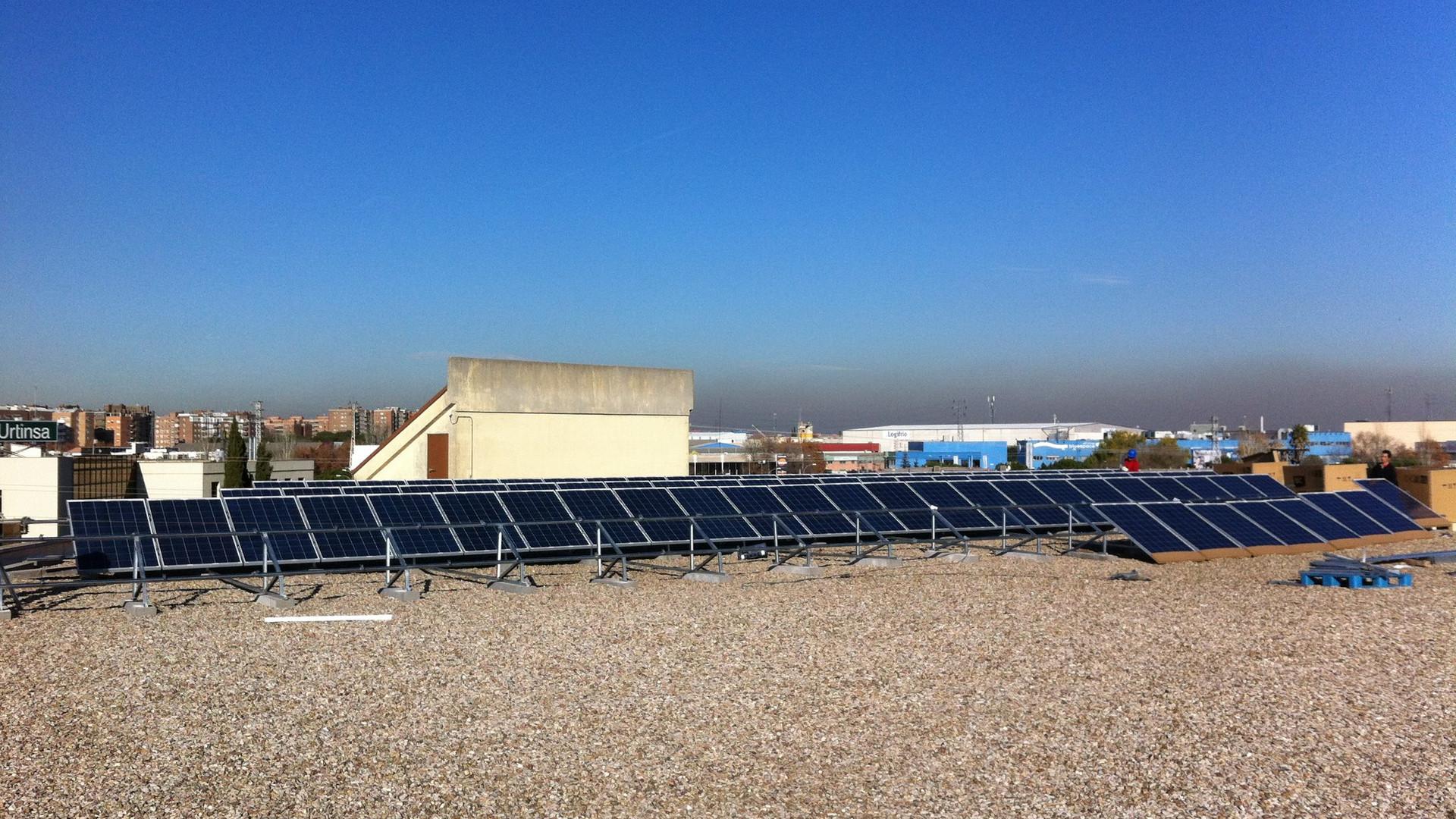 ISFV 20KW sobre cubierta industrial