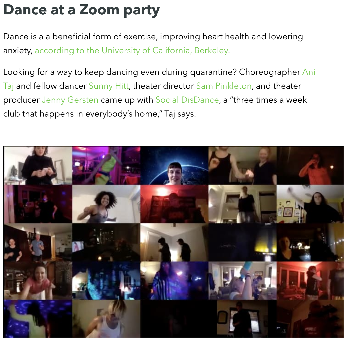 grow: Social DisDance Party