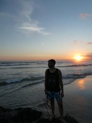 Jann im Sonnenuntergang