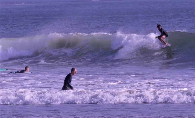 Surfer am Strand von Kuts