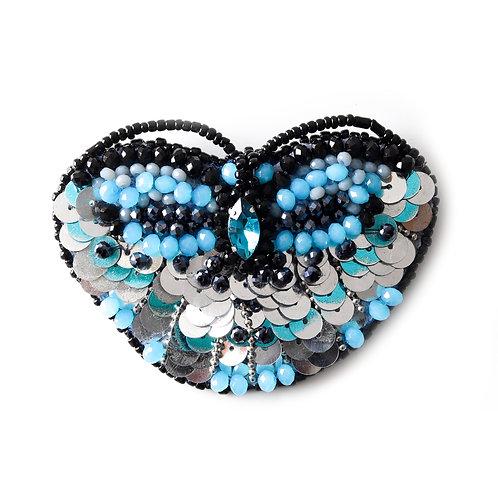 Plavi broš/ogrlica