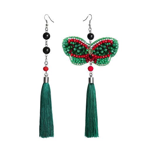 Zeleno-crvene naušnice