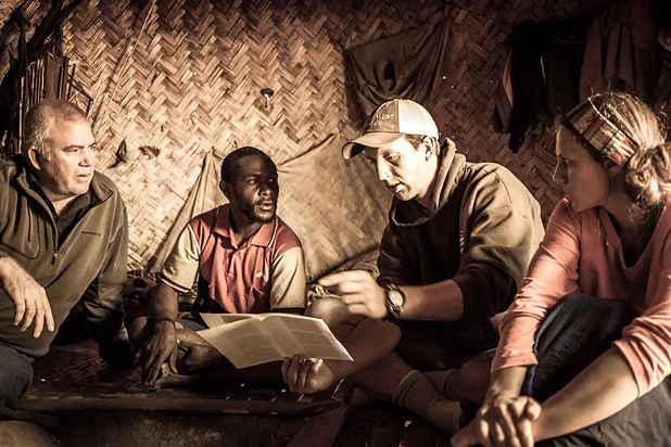 doing language study in hut (sepia).jpg
