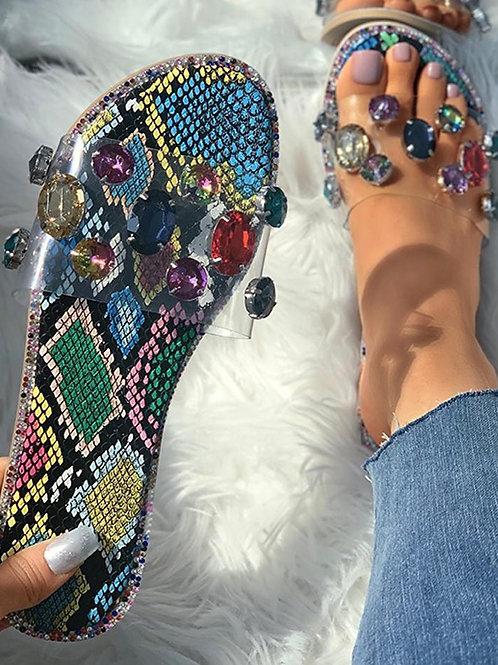 Multicolor Jewel Slides